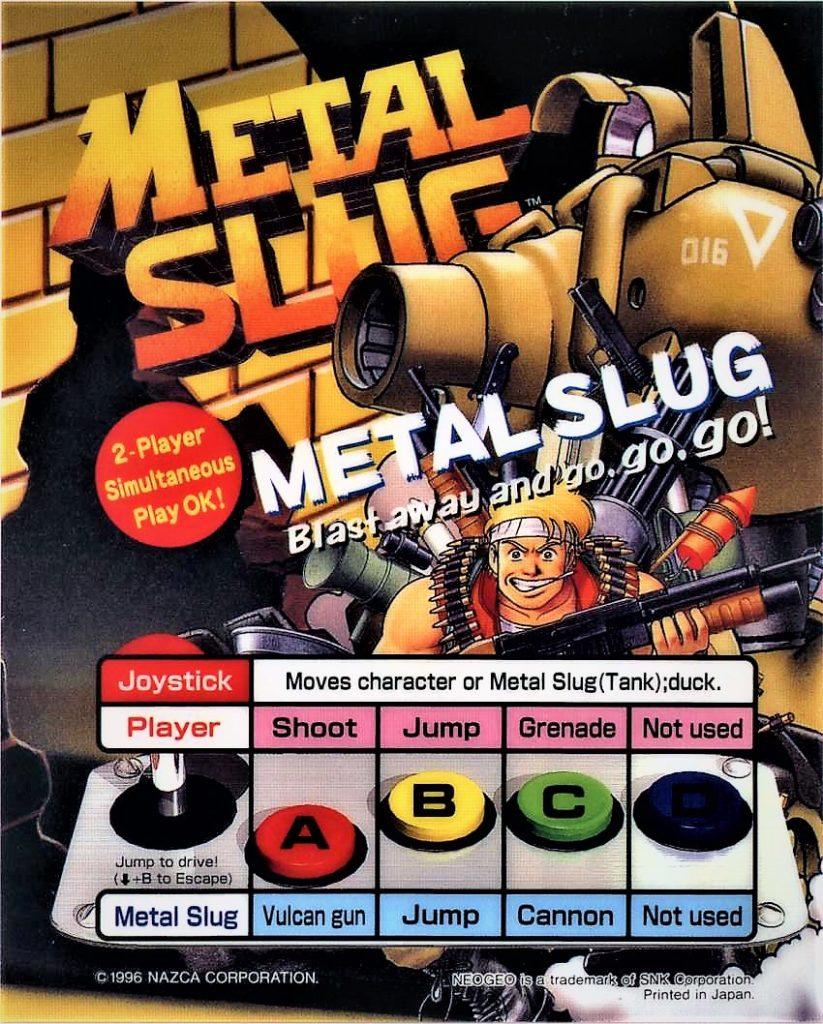 Metal Slug Arcade Flyer