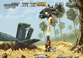 Metal Slug - Battling a Helicopter