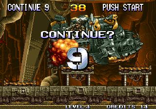 Metal Slug - Continue Screen