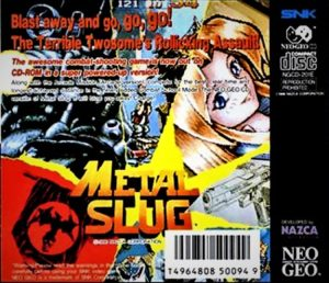 Metal Slug Neo Geo CD Box Back