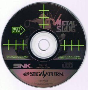Metal Slug Sega Saturn Disc