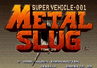 Metal Slug - Title Screen
