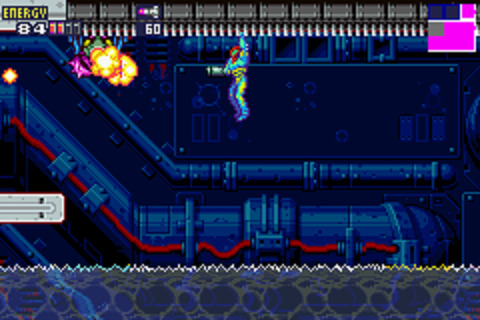 Metroid Fusion - Grappling Above Electrified Water