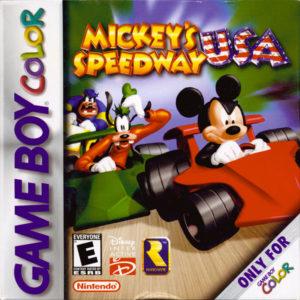 Mickey's Speedway USA GBC Box