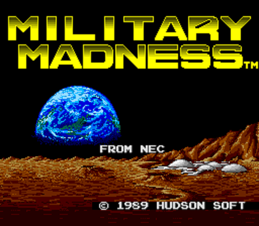 Military Madness - Title Screen