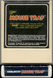 Mouse Trap Atari 2600 Cartridge (Coleco)