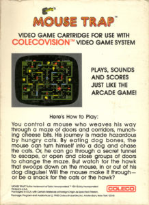 Mouse Trap ColecoVision Box Back