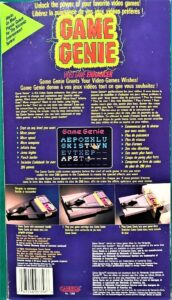 NES Game Genie Camerica Box Back