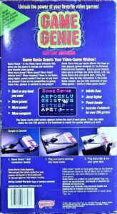 NES Game Genie Galoob Box Back