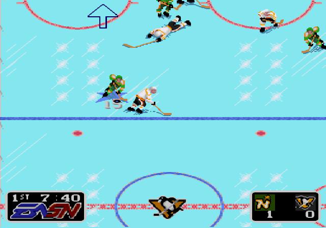 NHL Hockey Blocking Shot
