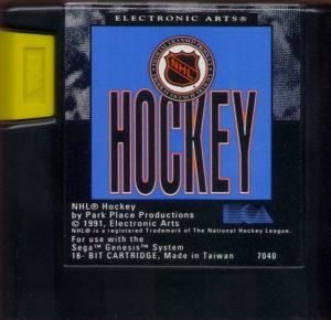 NHL Hockey Cartridge