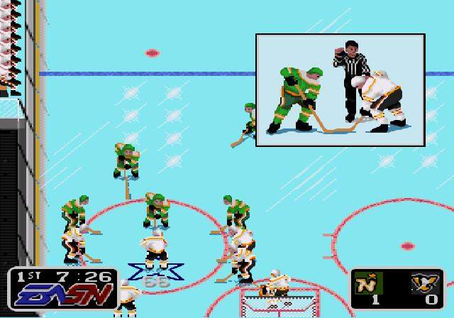 NHL Hockey Faceoff