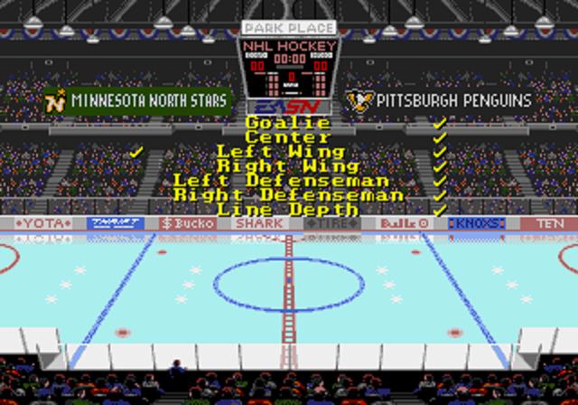 NHL Hockey Stats Screen