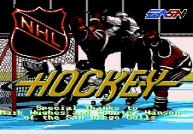 NHL Hockey Title Screen