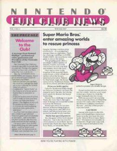 Nintendo Fun Club News Issue 1