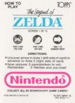 Nintendo Game Pack LoZ Card 1 Back