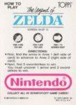 Nintendo Game Pack LoZ Card 10 Back