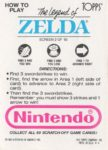 Nintendo Game Pack LoZ Card 2 Back