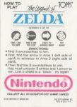 Nintendo Game Pack LoZ Card 3 Back