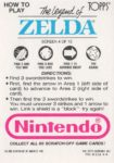 Nintendo Game Pack LoZ Card 4 Back