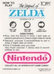 Nintendo Game Pack LoZ Card 5 Back