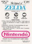 Nintendo Game Pack LoZ Card 6 Back