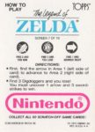 Nintendo Game Pack LoZ Card 7 Back