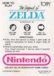 Nintendo Game Pack LoZ Card 8 Back