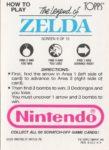 Nintendo Game Pack LoZ Card 9 Back