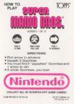 Nintendo Game Pack SMB Card 1 Back