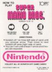 Nintendo Game Pack SMB Card 10 Back