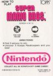 Nintendo Game Pack SMB Card 4 Back