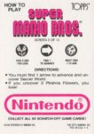 Nintendo Game Pack SMB Card 6 Back