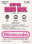 Nintendo Game Pack SMB Card 7 Back