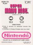 Nintendo Game Pack SMB Card 8 Back