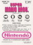 Nintendo Game Pack SMB Card 9 Back