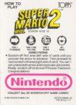 Nintendo Game Pack SMB2 Card 10 Back