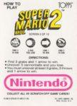 Nintendo Game Pack SMB2 Card 2 Back