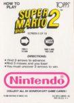 Nintendo Game Pack SMB2 Card 5 Back