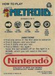 Nintendo Game Pack Series 2 Metroid 2 Back