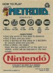 Nintendo Game Pack Series 2 Metroid 3 Back