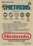 Nintendo Game Pack Series 2 Metroid 6 Back