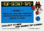 Nintendo Game Pack Series 2 Sticker 37 Back