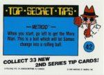 Nintendo Game Pack Series 2 Sticker 42 Back