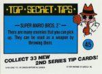Nintendo Game Pack Series 2 Sticker 45 Back