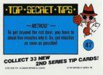 Nintendo Game Pack Series 2 Sticker 47 Back