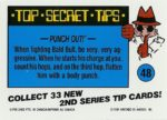 Nintendo Game Pack Series 2 Sticker 48 Back
