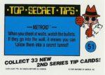 Nintendo Game Pack Series 2 Sticker 51 Back