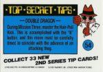 Nintendo Game Pack Series 2 Sticker 54 Back