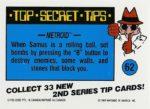 Nintendo Game Pack Series 2 Sticker 62 Back